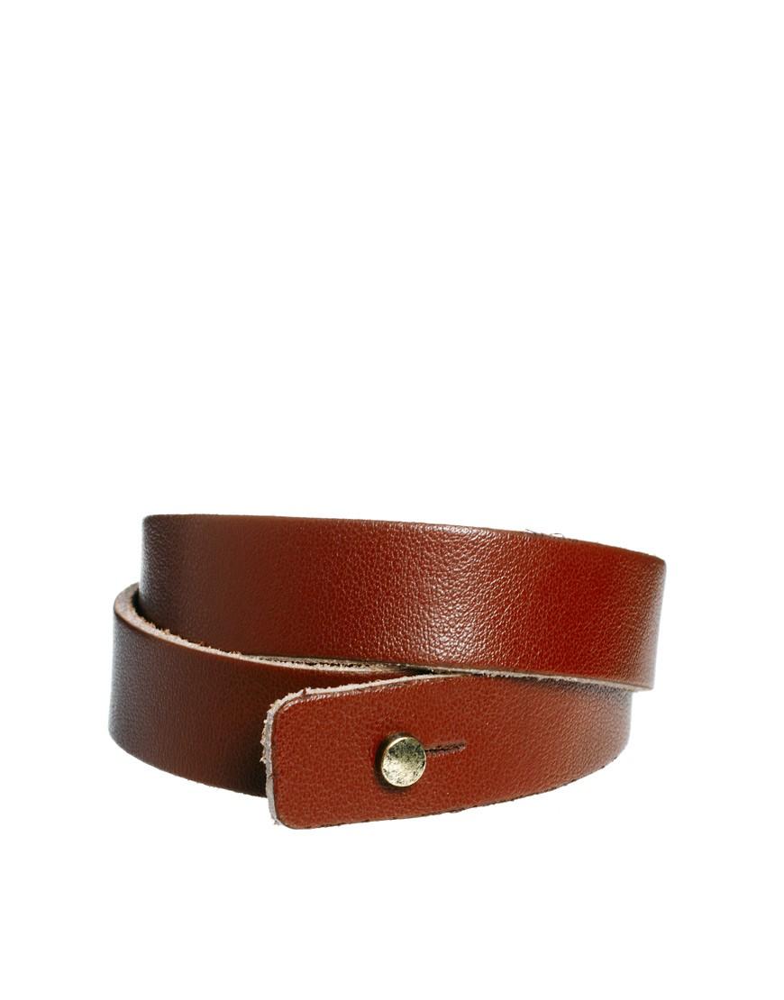 Image 2 ofASOS Leather Wrap Around Bracelet