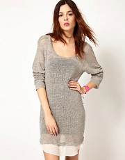 Lna Knitted Layered Dress