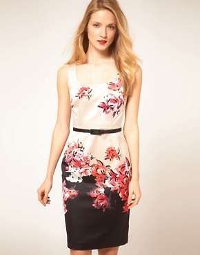 Image 1 ofCoast Border Print Pencil Dress