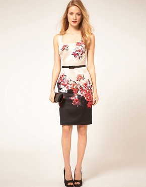 Image 4 ofCoast Border Print Pencil Dress