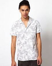 Love Moschino Shirt with Tropical Print
