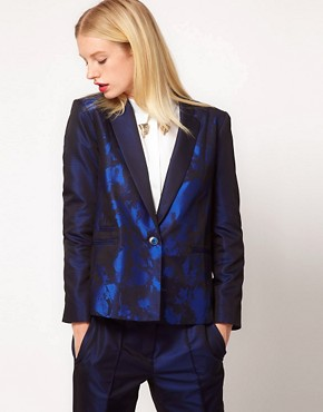 Image 1 ofASOS Premium Blazer In Ombre Print