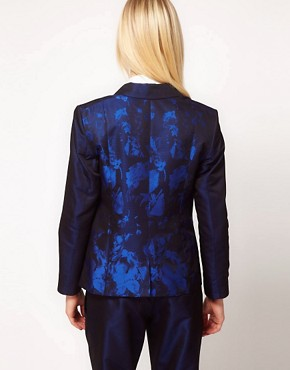 Image 2 ofASOS Premium Blazer In Ombre Print