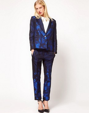 Image 4 ofASOS Premium Blazer In Ombre Print