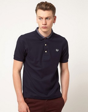 Image 1 ofFred Perry Polo Shirt Slim Fit Reinforced