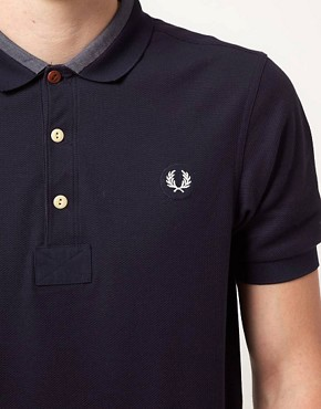 Image 3 ofFred Perry Polo Shirt Slim Fit Reinforced