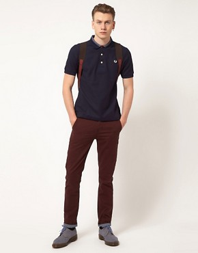 Image 4 ofFred Perry Polo Shirt Slim Fit Reinforced