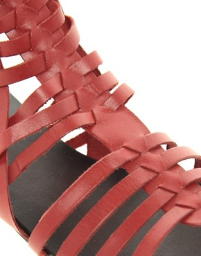 Image 2 ofASOS FREDDIE Leather Gladiator Sandals