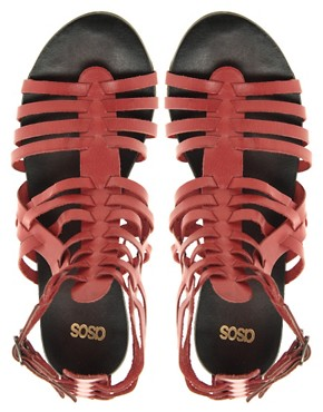 Image 3 ofASOS FREDDIE Leather Gladiator Sandals