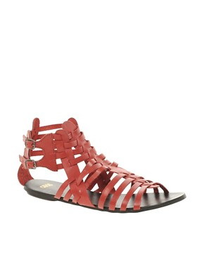 Image 1 ofASOS FREDDIE Leather Gladiator Sandals