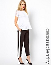 ASOS Maternity Pant In Color Block