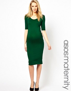 Image 1 ofASOS Maternity Bodycon Midi Dress