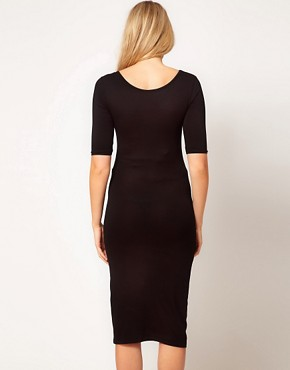 Image 2 ofASOS Maternity Bodycon Midi Dress