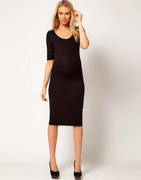 Image 4 ofASOS Maternity Bodycon Midi Dress
