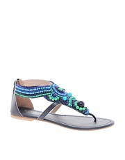 Carvela Leather Beaded Sandal