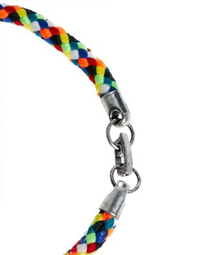 Image 4 ofASOS Bright Woven Bracelet