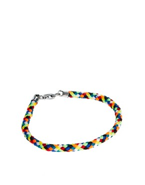 Image 1 ofASOS Bright Woven Bracelet