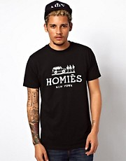 Reason  T-Shirt mit Homies New York-Aufdruck