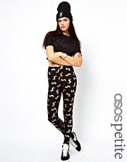 ASOS PETITE Exclusive Leggings with Dollar Sign