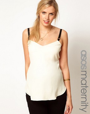 Image 1 ofASOS Maternity Cami With Elasticated Straps