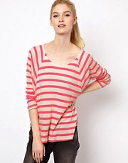 Splendid Neon Stripe Long Sleeved Top
