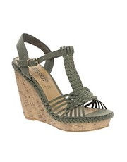 New Look Fudge Crochet Wedge Sandals