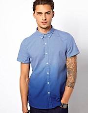 Esprit Check Shirt With Dip Dye