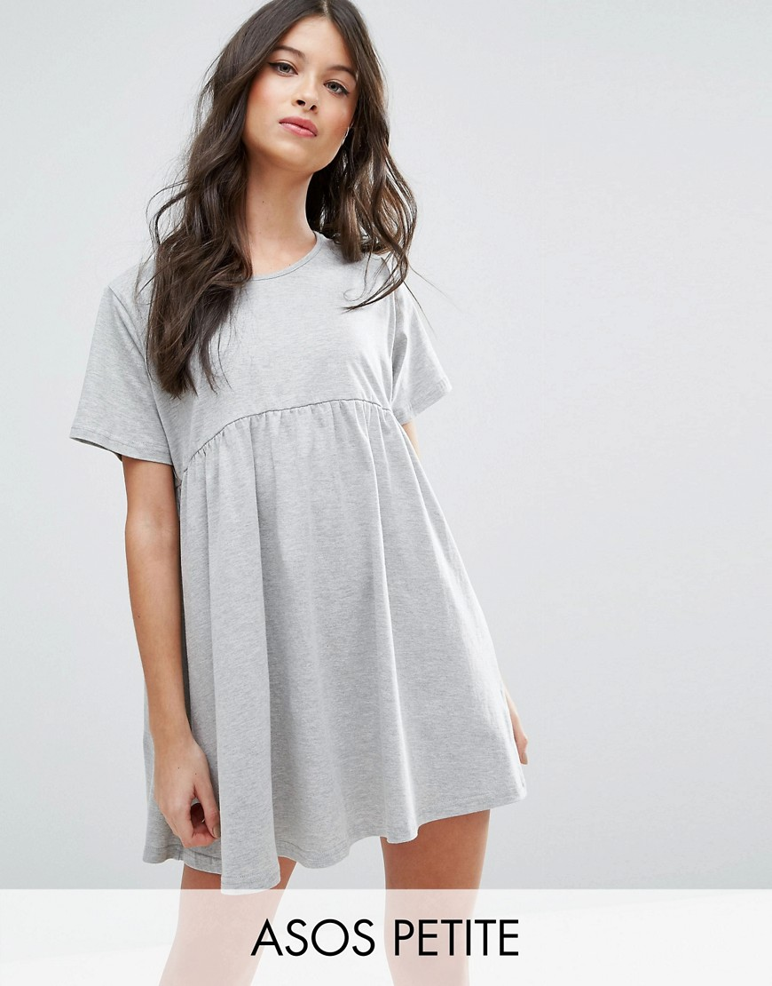 ASOS PETITE Ultimate Smock Dress - Gray