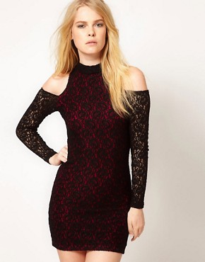 Image 1 ofMinkpink &#39;Simply Irresistible&#39; Lace High Neck Dress