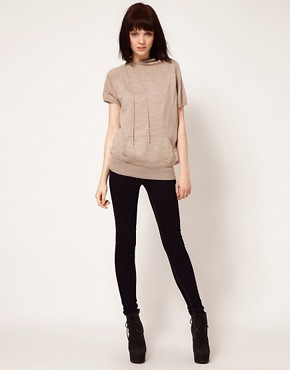 Image 4 ofUnconditional Cap Sleeve Asymmetric Hooded Top