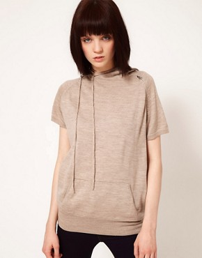 Image 1 ofUnconditional Cap Sleeve Asymmetric Hooded Top