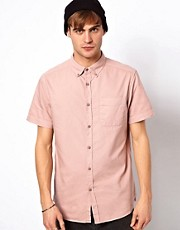 River Island Short Sleeve President Oxford