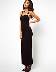 ASOS Eyelit Strap Buckle Maxi Dress