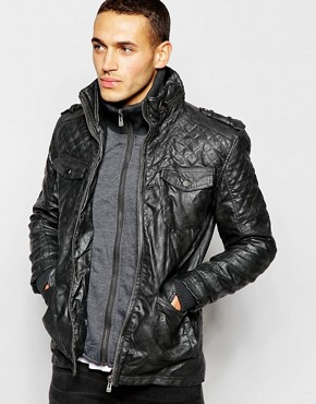 Barneys Faux Leather Double Layer Jacket