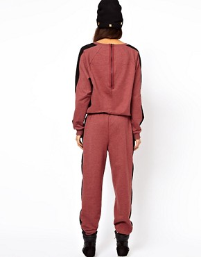 Image 2 of ASOS Onesie With Side Stripe