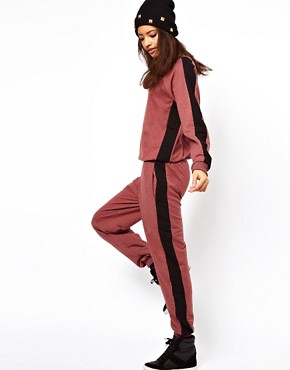 Image 4 of ASOS Onesie With Side Stripe