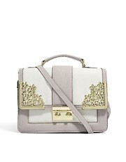ASOS Bag With Metal Flower Fitting And Tophandle