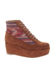 ASOS  ALL ABOARD  Flache Plateau-Stiefelette