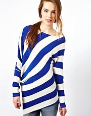 Wal G Stripe Lightweight Jumper