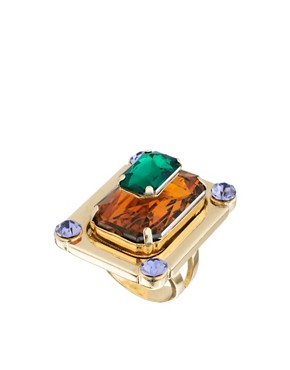 Image 1 ofASOS Multi Gem Cocktail Ring
