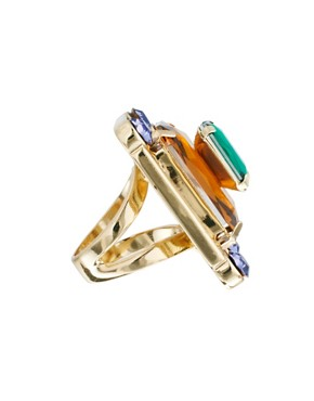 Image 4 ofASOS Multi Gem Cocktail Ring