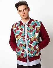 Bellfield Bomber Jacket With Camo Body