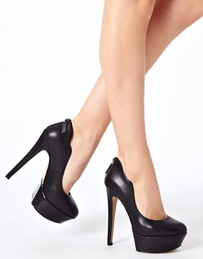 Image 3 of Carvela Glory Leather Platform Court Shoes
