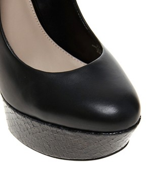 Image 4 of Carvela Glory Leather Platform Court Shoes