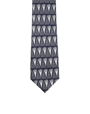 Image 3 ofASOS Silver Pattern Tie