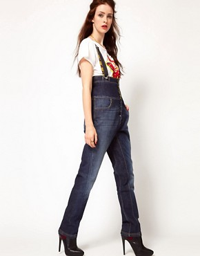 Image 1 ofVivienne Westwood Anglomania For Lee Bombardier Dungarees