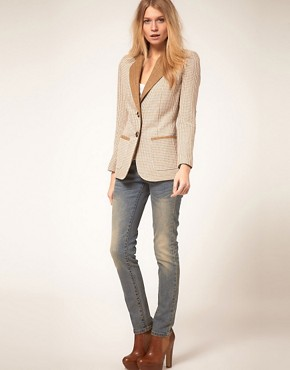 Image 4 ofASOS PETITE Exclusive Longline Blazer
