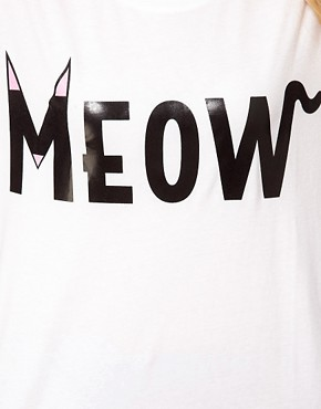 Image 3 ofASOS T-Shirt with Meow Print