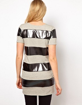 Image 2 ofASOS Maternity Tunic In Metallic Stripe