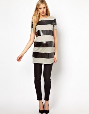 Image 4 ofASOS Maternity Tunic In Metallic Stripe